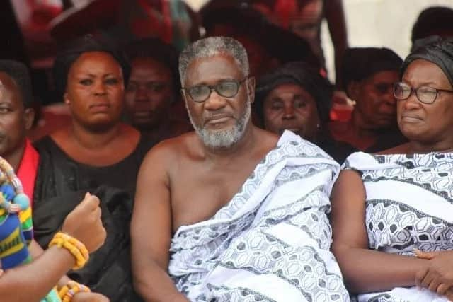 Ebony's dad and mum at her burial ceremony