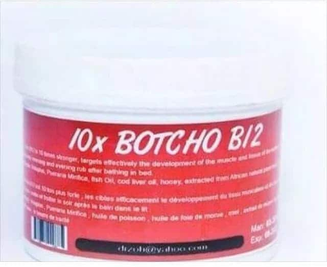 Botcho cream before and after (pictures)