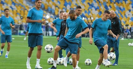 Real Madrid stars train in Kiev ahead of their Champions League final match against Liverpool (photos)