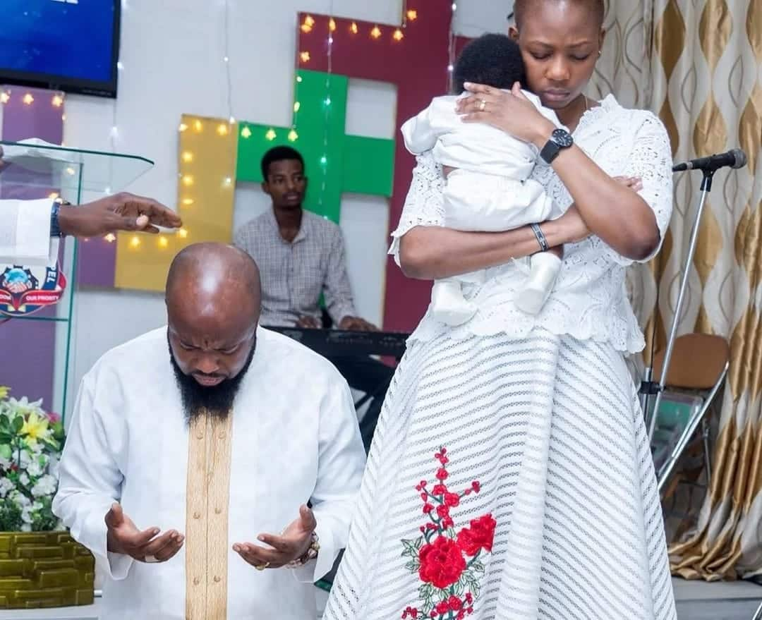 Trigmatic shares photos of first child's Christening