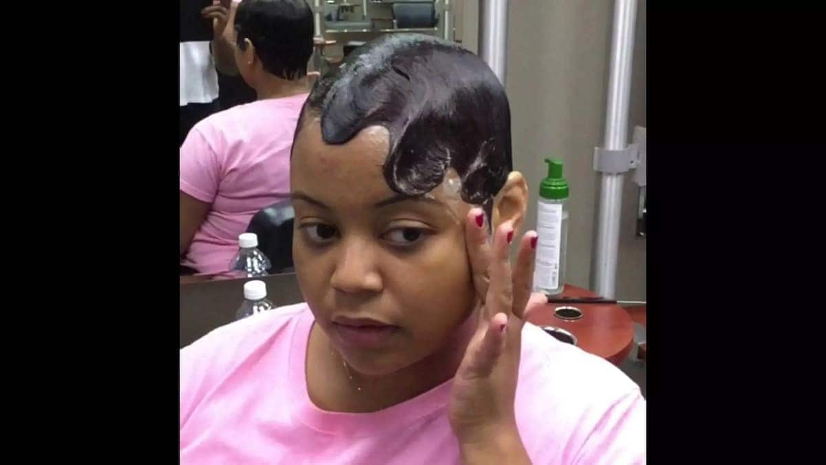 Finger Waves With Ponytail For Short Hair In