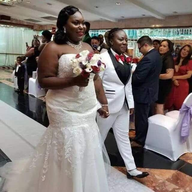 YEN.com.gh has more photos of the lesbian Ghanaian couple who wedded in Holland