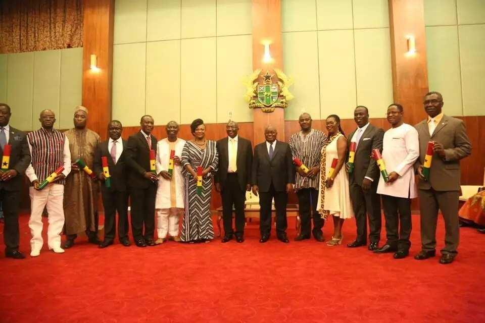 President Akufo-Addo swears in Otiko Djaba, et al as Ministers