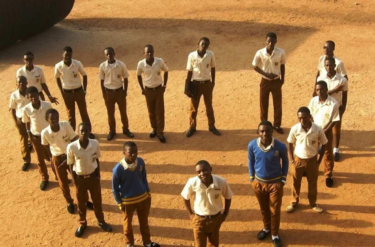 OWASS students wearing their school uniforms