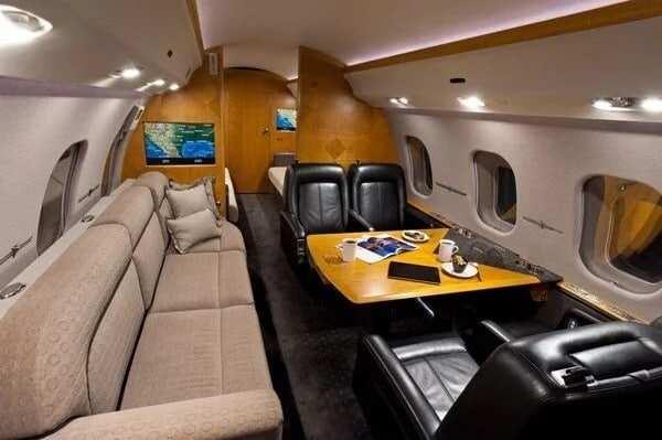 Asamoah Gyan's private jet