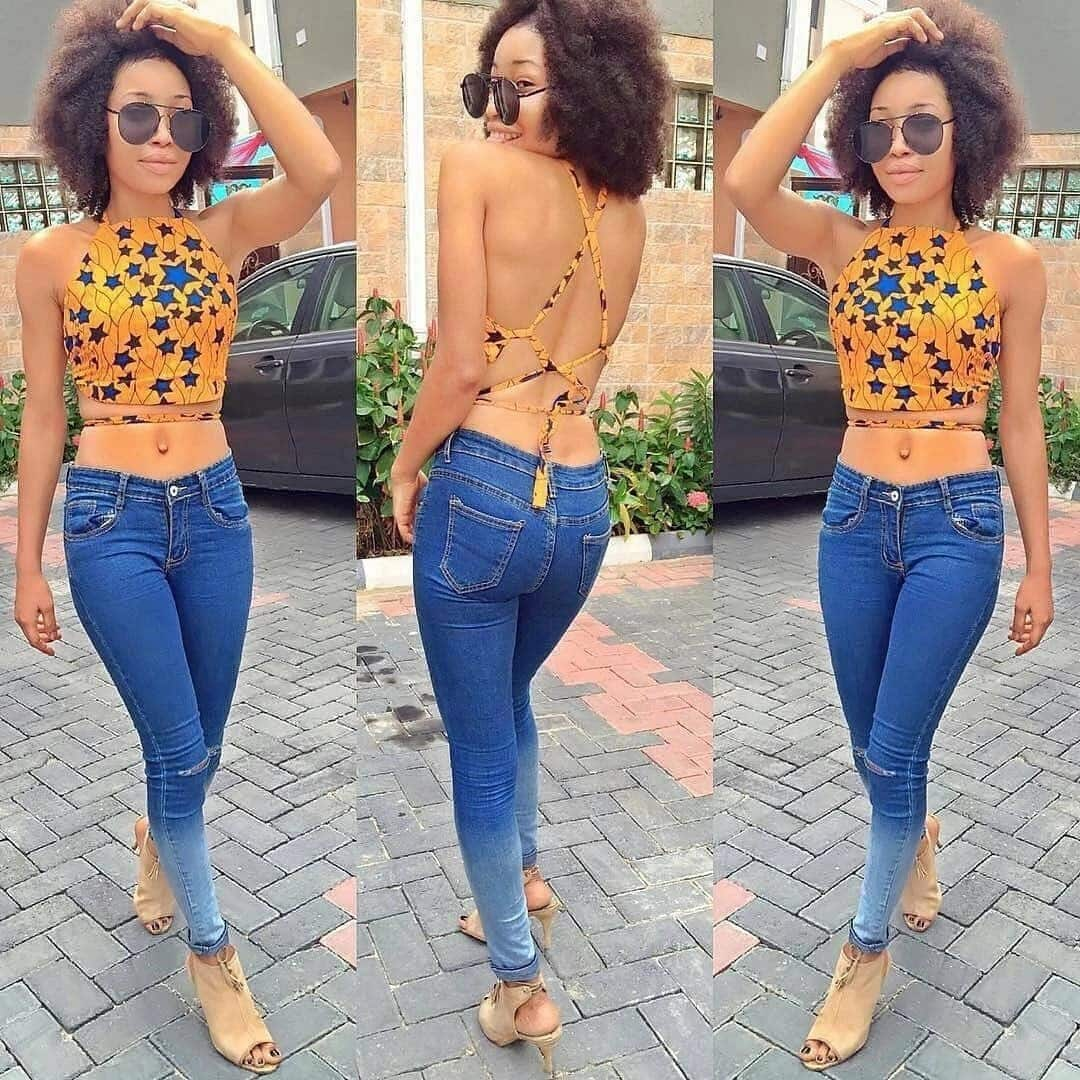 ankara tops for ladies stylish tops to wear with jeans ankara blouse on jeans trendy styles made with ankara peplum ankara tops ankara tops designs