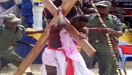 Birim DCE shocks all as he acts in Jesus drama at Easter