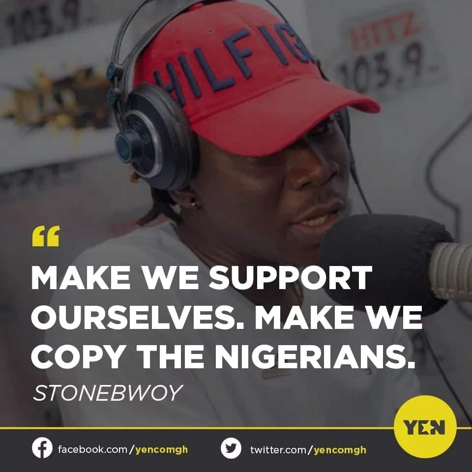 YEN.com.gh readers critically examine Stonebwoy's call to local musicians to learn from Nigerian music artistes