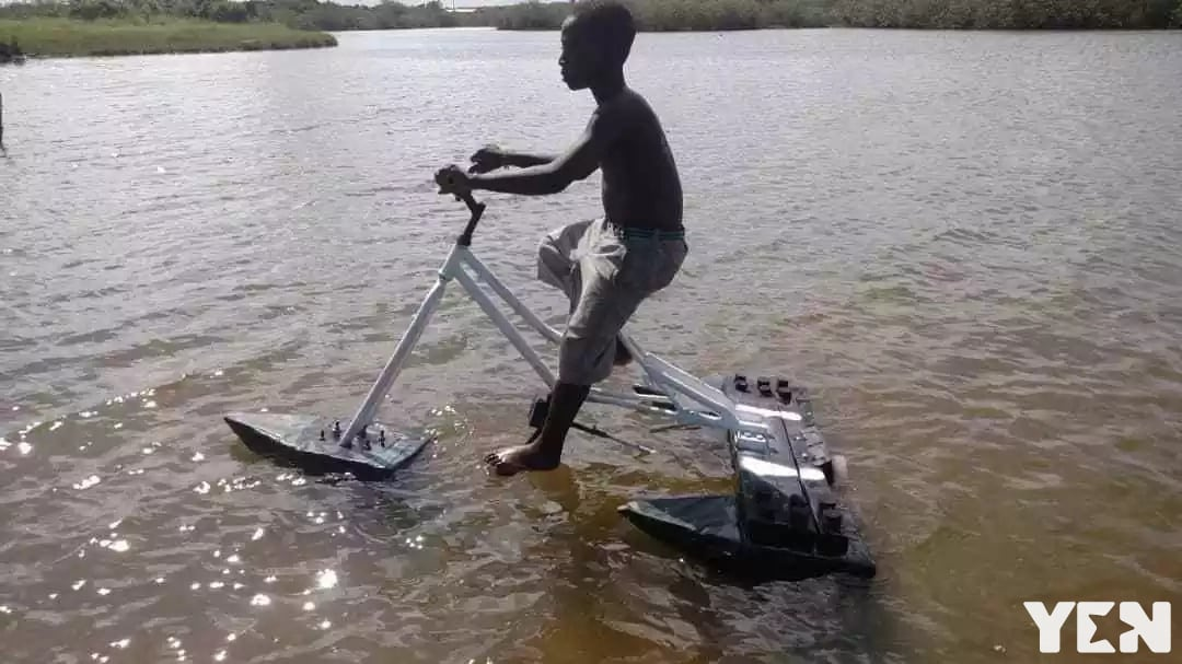 Ghanaian inventor gets first ever child volunteer to test ride his Trifad for minors
