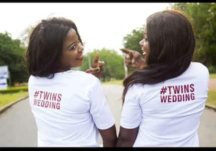 Pre-wedding photos of twin sisters getting married on same day to different guys with same first names go viral