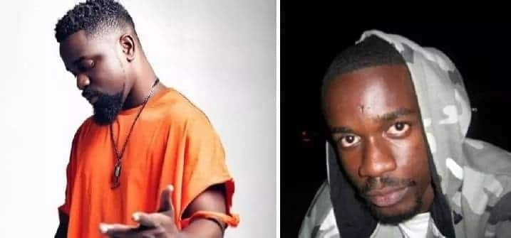 Sarkodie then and now collage