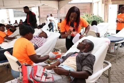 Hundreds donate towards TV Africa blood donation exercise
