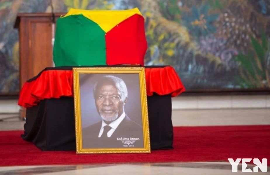 Mourners disappointed over Kofi Annan's closed casket