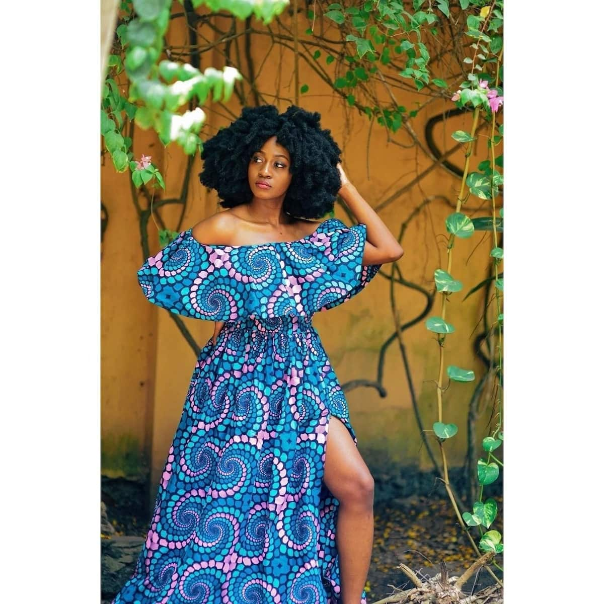 images of off shoulder ankara gowns, trending off shoulder ankara gowns, latest off shoulder ankara gowns