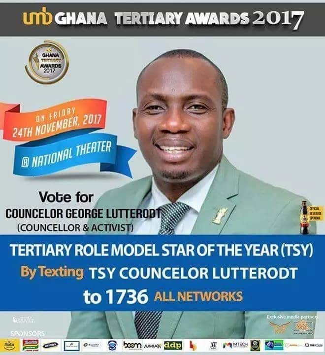 Counsellor Lutterodt to recieve role model award?
