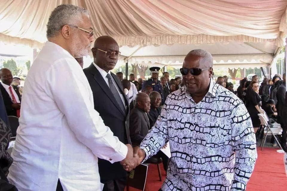 Former Presidents Mahama and Rawlings
