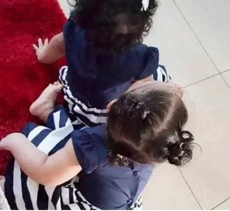 Nadia Buari shows photos of her beautifully growing twins