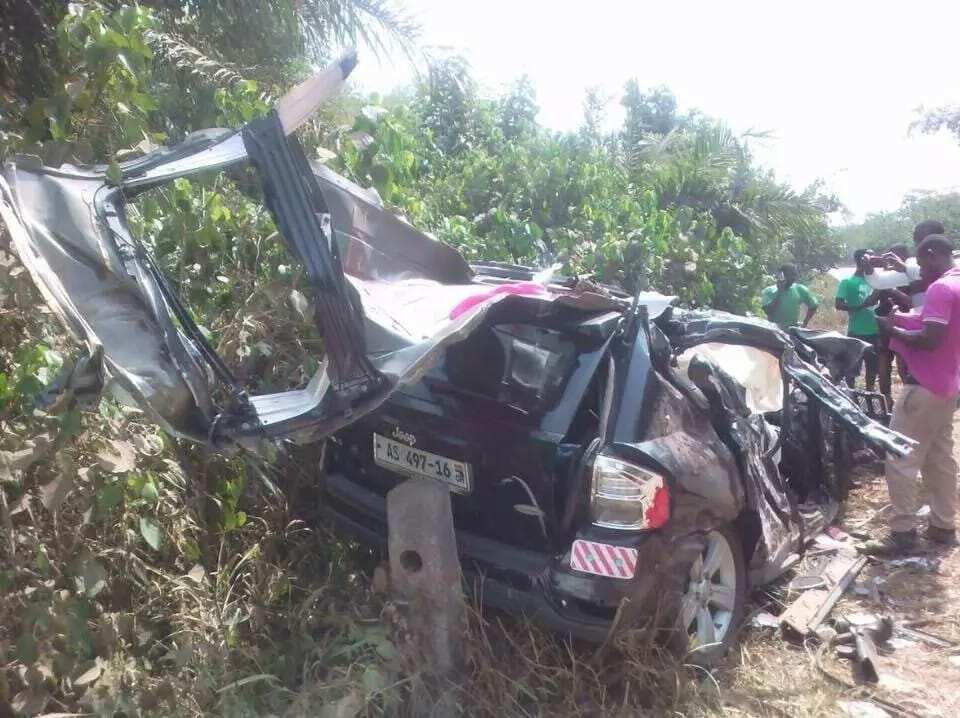 Photos: Ebony's accident car damaged beyond repair