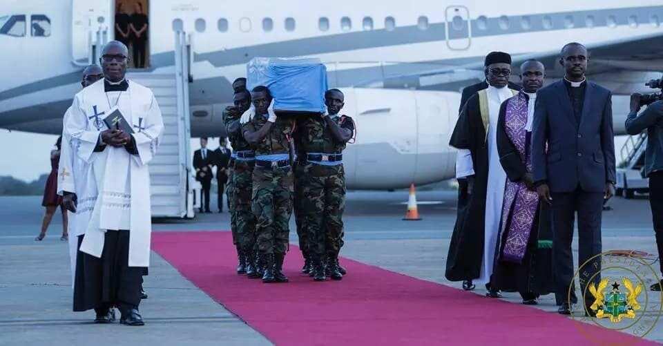 Akufo-Addo, Bawumia others receive mortal remains of late Kofi Annan