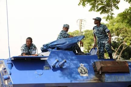 Names of 3 powerful policemen who rented loaded gun to robbers at Weija, Accra pop up