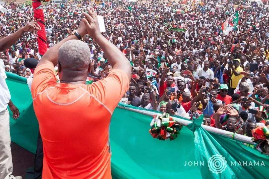 Massive crowd meet Mahama at NDC's Unity Walk rally in Wa