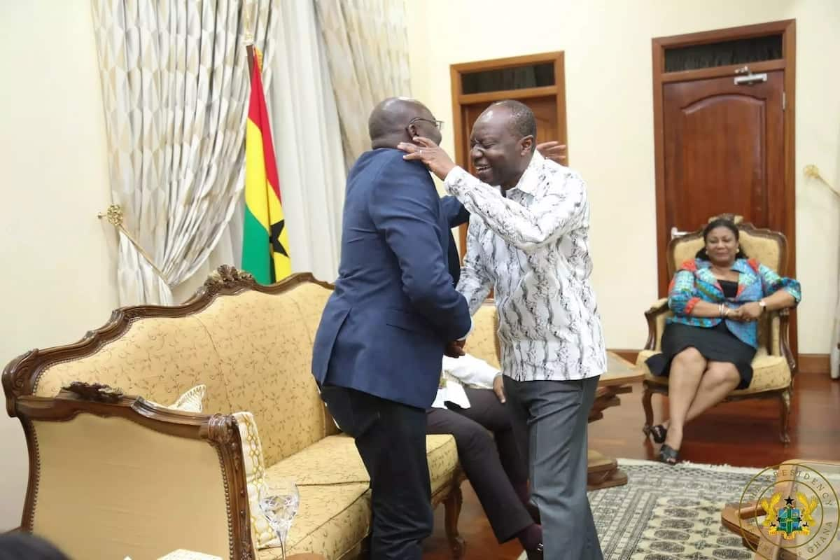 Dr Bawumia and Minister of Finance, Ken Ofori-Atta met at the Flagstaff House