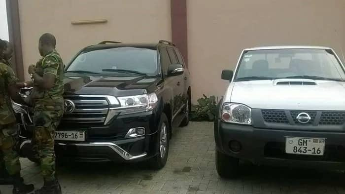 Photos: Here are the cars soldiers seized from Kofi Adam