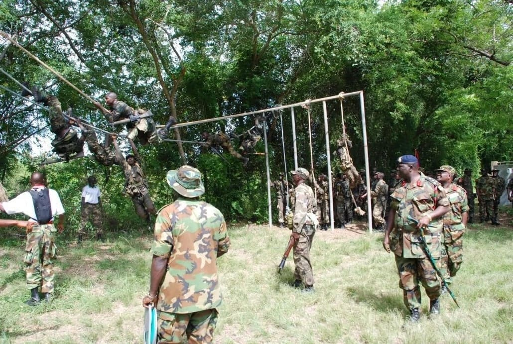 Aptitude test for military officers in Ghana