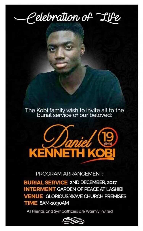 Prophet Badu Kobi's late son, Daniel Kenneth Kobi