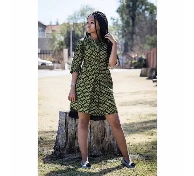A chic african short dress style for the weekend