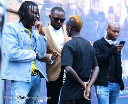 Stonebwoy schools Patapaa on how to make good music on the sidelines of Ghana Meets Naija launch?