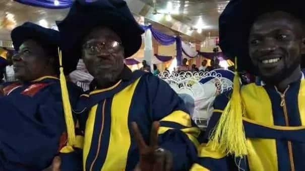 People wearing academic gowns