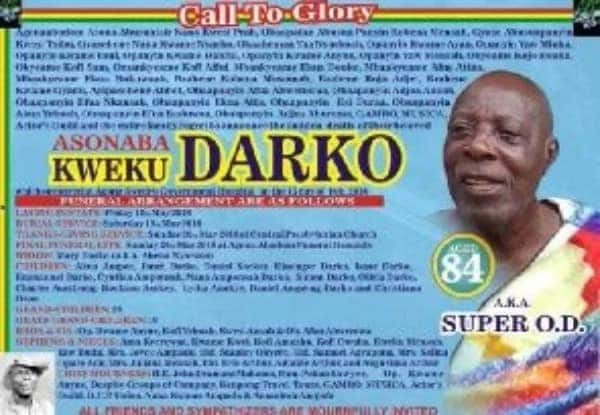 Veteran actor Super OD to be buried on May 19