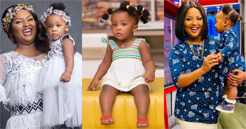 Nana Ama McBrown's daughter Baby Maxin sings and dances to Kidi's Say Cheese song