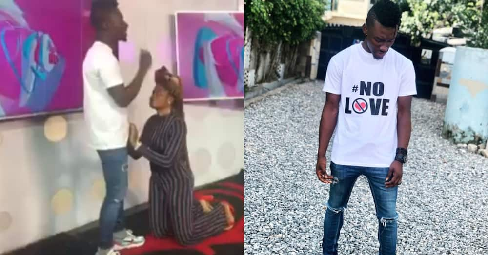 Ghanaian girl begs ex-lover on live TV show after he composed song about the heartbreak