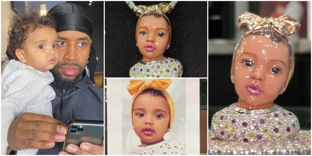 American Rapper Safaree Makes Stunning Pendant of Daughter's Image, Flaunts Jewellery Online