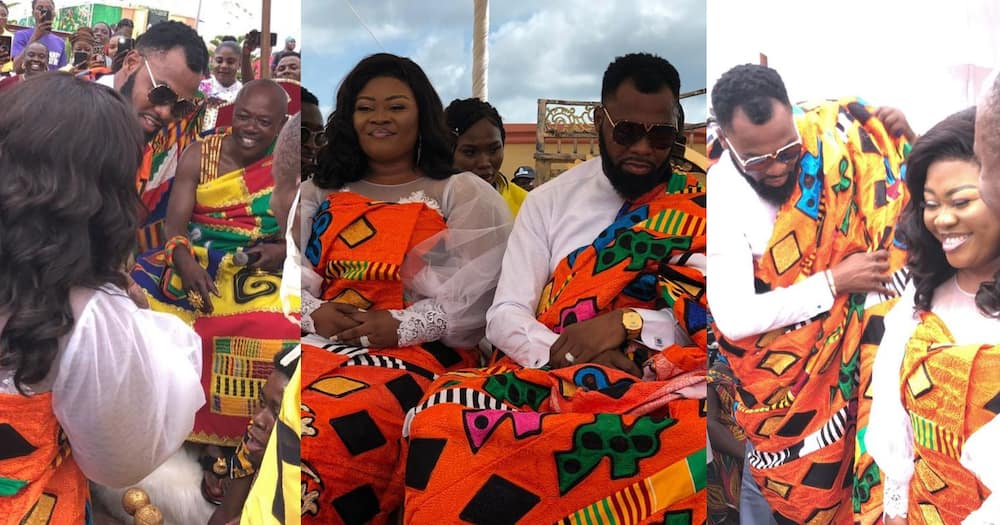 Obofour and wife Ciara enstooled as chiefs in Tepa (Videos, photos)