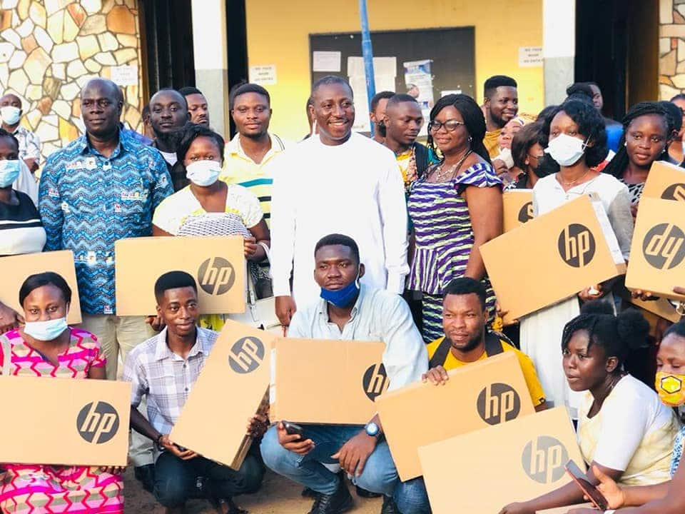Afenyo-Markin gifts 40 teachers posted to his constituency fresh laptops each (photos)