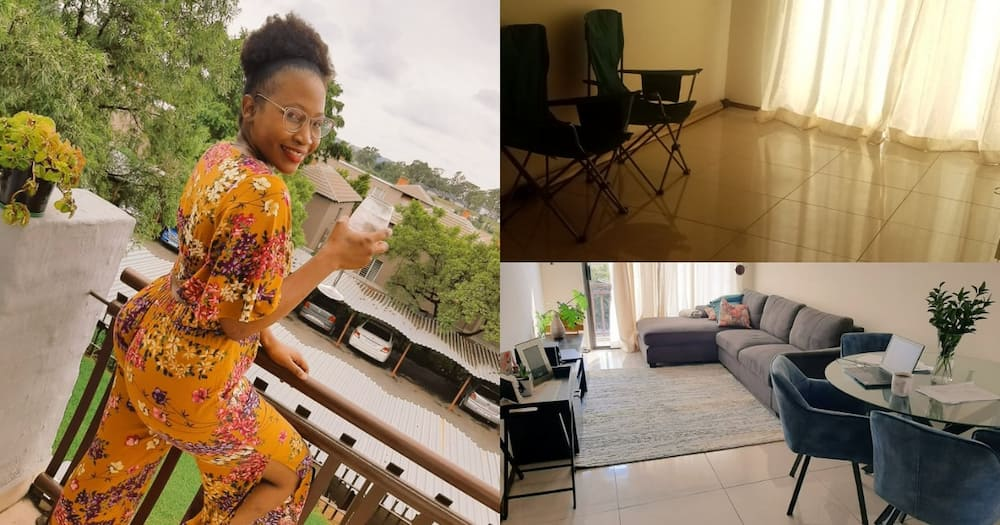 Sa Lady Shows Before and After Pics of Beautifully Furnished Apartment