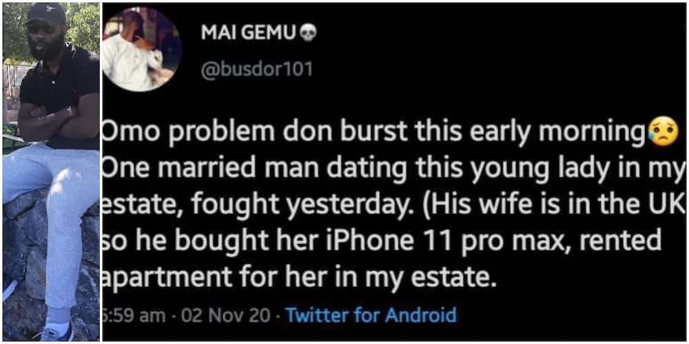 Man narrates what went down between his neighbor and his side chick