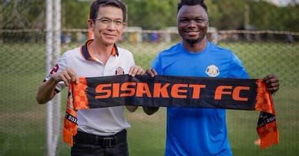 29-year-old Dominic Adiyiah joins 12th club after signing for Thai second-tier side Sisaket FC