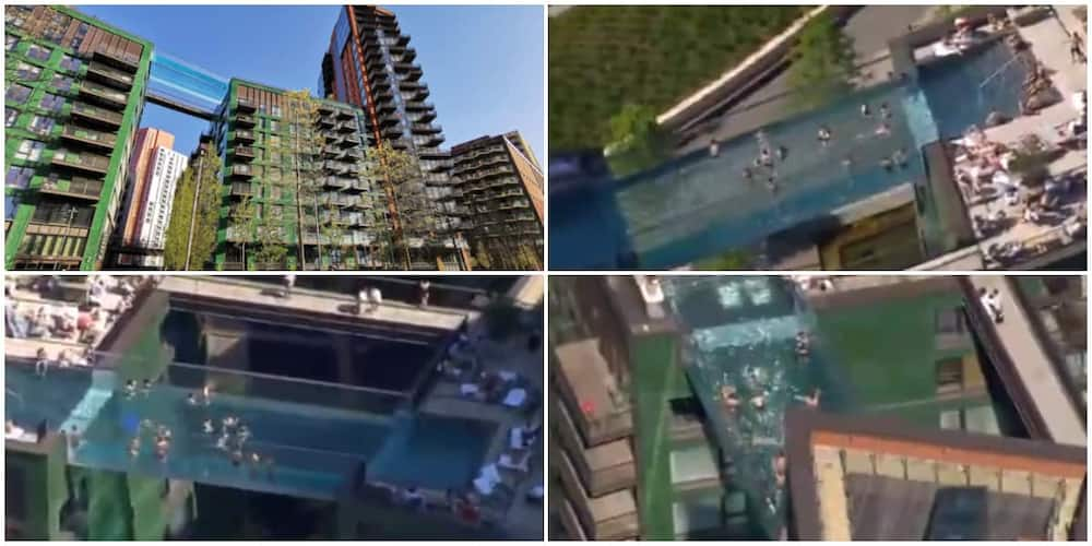 Incredible Video Shows People Swimming in World's First Transparent Pool Built Between Two Skyscrapers