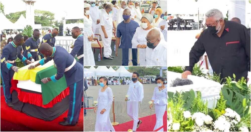 Rawlings' mother's burial: Akufo-Addo, Bawumia, Opoku Agyemang, Ablakwa, others attend