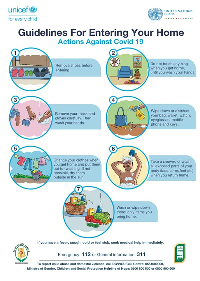 COVID-19: 7 important guidelines to take before entering your home