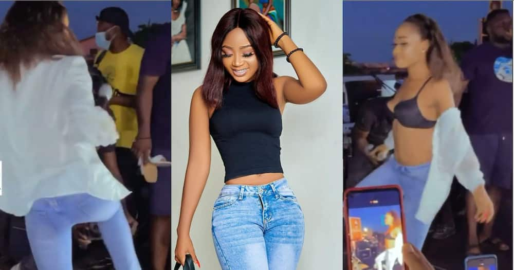 Akuapem Poloo: Actress spotted taking off her clothes while dancing wildly in video