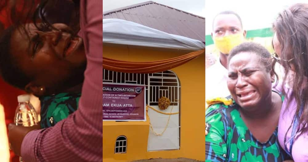 Ekua Ataa: Widow breaks down in tears as NGO gifts her two-bedroom house