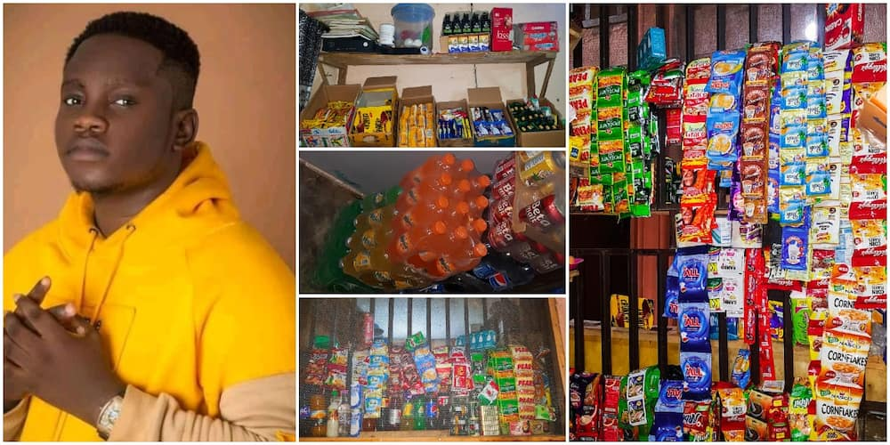Reactions as young Nigerian student turns hostel room to small shop, has been bale to employ someone