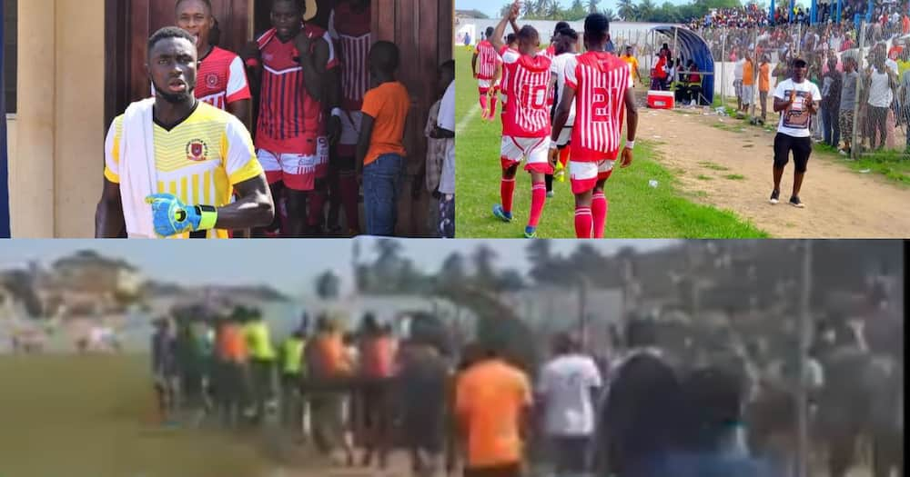 Fans carry players of division two side to avoid 'juju' still lost match; video drops