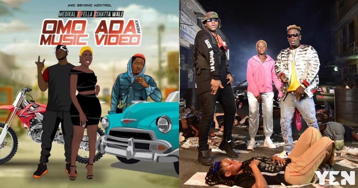 Medikal drops Omo Ada Remix video with Shatta Wale, Fella Makafui & it's serious