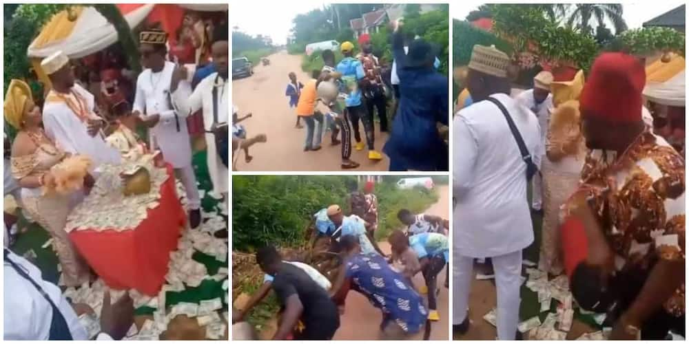 Drama at wedding as groom's friend steal show, throw money into bush and stone cash on people